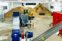 Цех по производству пеллет совсем небольшой - но способен производить 24 тонны гранул в сутки.