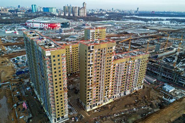 Строительство натерритории аэродрома Тушино ведётся вправильном порядке: сначала возводят деловые здания, апотом жильё.