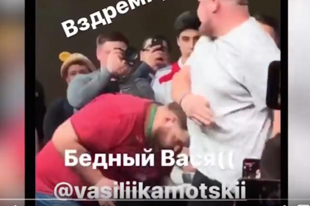 Вася Пельмень проиграл первый раз.