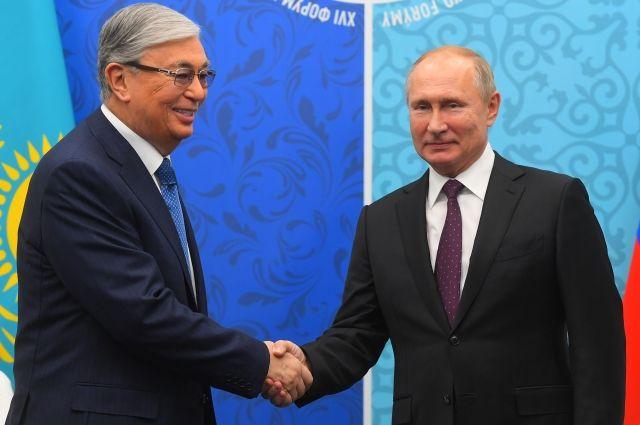 Путин направил Токаеву поздравление с Днём независимости Казахстана