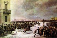Василий Тимм. «Восстание декабристов 14 декабря 1825 года». 1853 г.