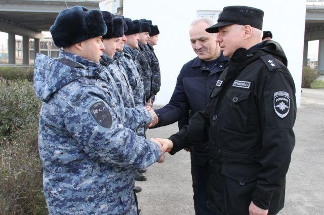 Речицкий встретился с красноярскими полицейскими.