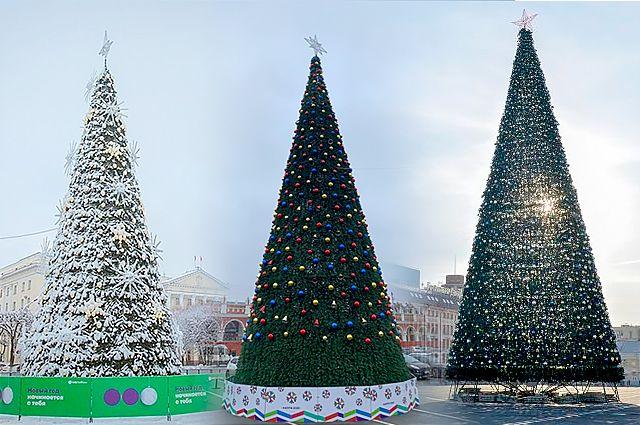 Новогодние ёлки Смоленска, Калуги и Тулы.