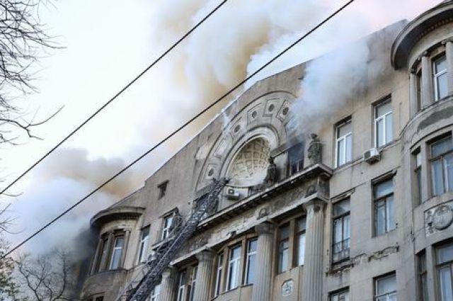 Пожар в колледже в Одессе: в полиции озвучили причину происшествия