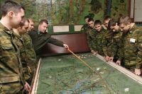 Занятия на военной кафедре.