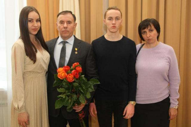 Алексей Шебаршинов со своей семьёй.