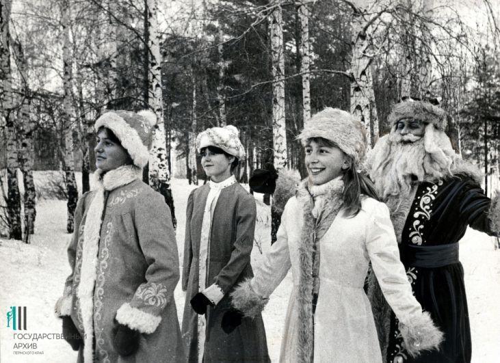 Новогоднее представление «Волшебный лес», которое подготовил самодеятельный театр  Чайковского дома культуры «Текстильщик», Пермь,  1985 год.