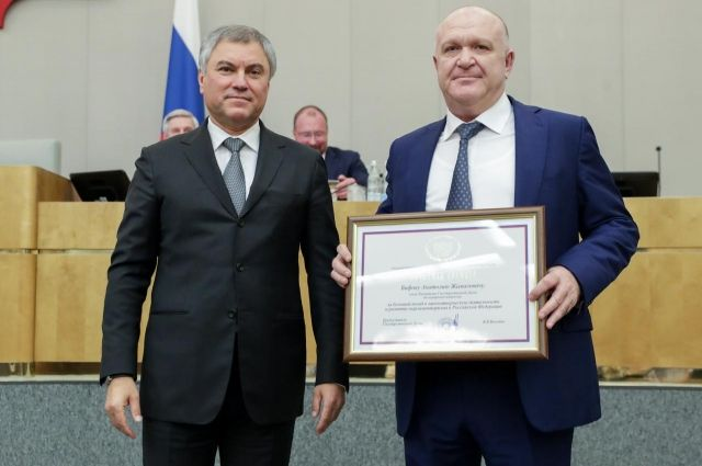 Депутата Анатолия Бифова из КБР наградили Почётной грамотой Госдумы РФ