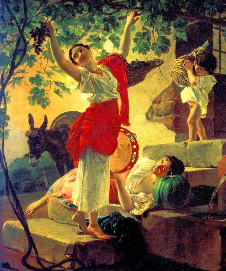 «Девушка, собирающая виноград в окрестностях Неаполя» (1827).