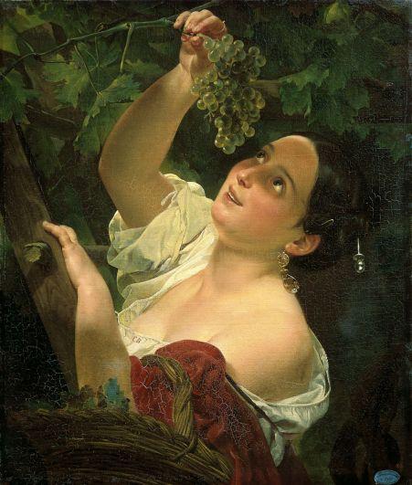 «Итальянский полдень (Итальянка, снимающая виноград)» (1827).