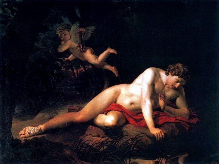 «Нарцисс, смотрящийся в воду» (1819).