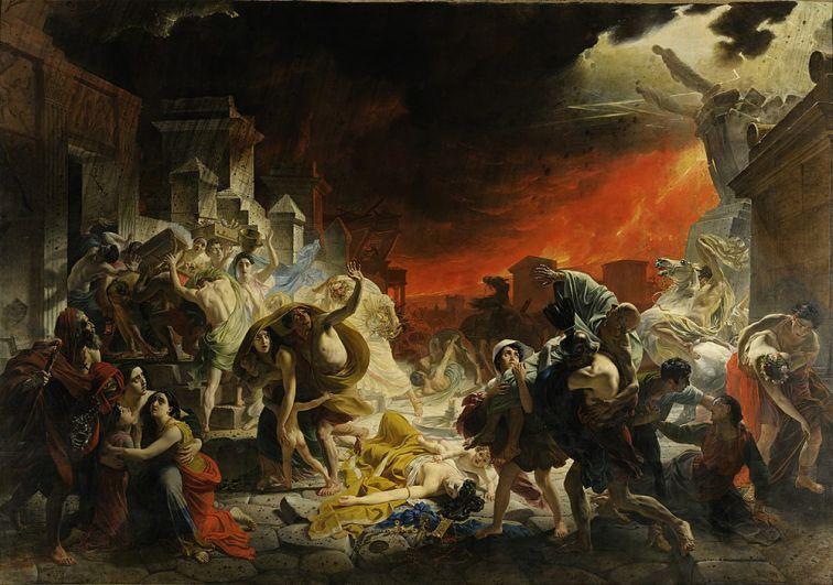 «Последний день Помпеи» (1833).