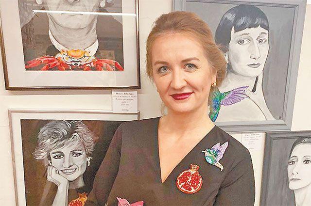 Ольга Лебидько на презентации своей коллекции «Архетипы» на выставке в Арт-подвале GALLery 15 декабря.