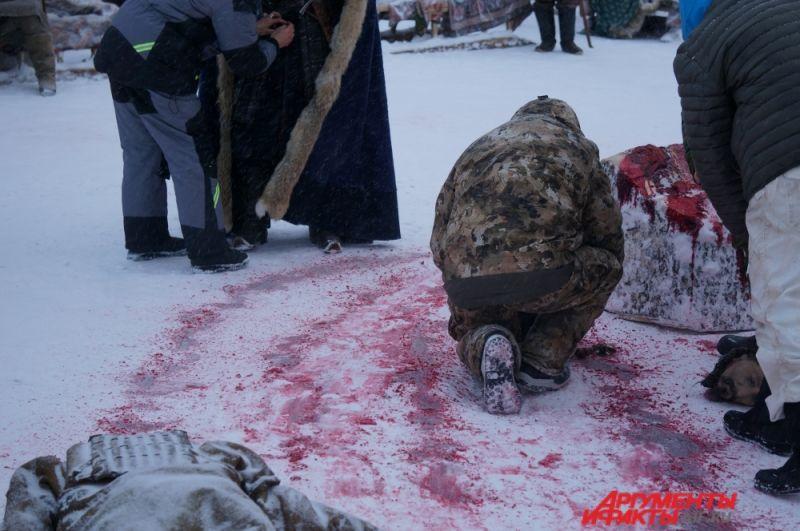 Во время съёмок одного эпизода ушло около семи литров искусственной крови.