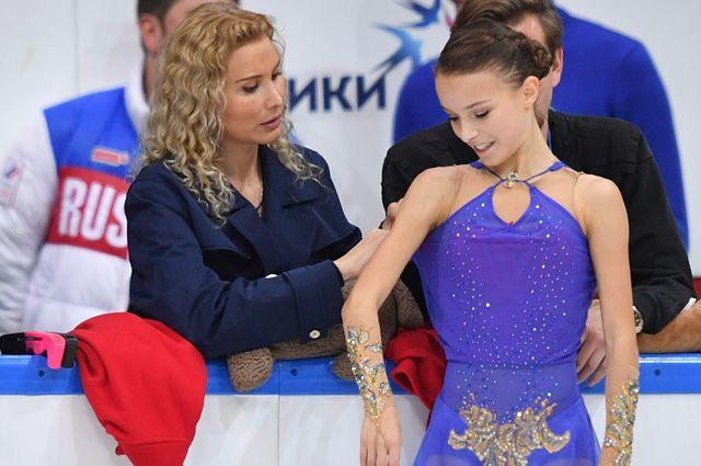 Этери Тутберидзе и Анна Щербакова.