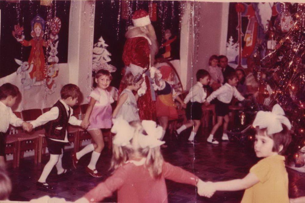 Новогодний утренник в детском саду, 1977 г.