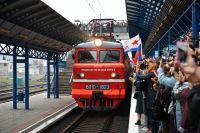 Поезд «Таврия» из Санкт-Петербурга прибывает навокзал Севастополя.
