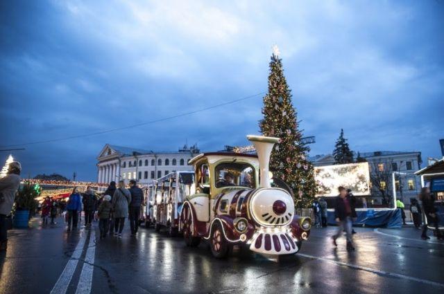 В новогоднюю ночь запретят движение транспорта в центре Киева