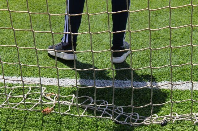 На стадионе уложено современное искусственное покрытие.