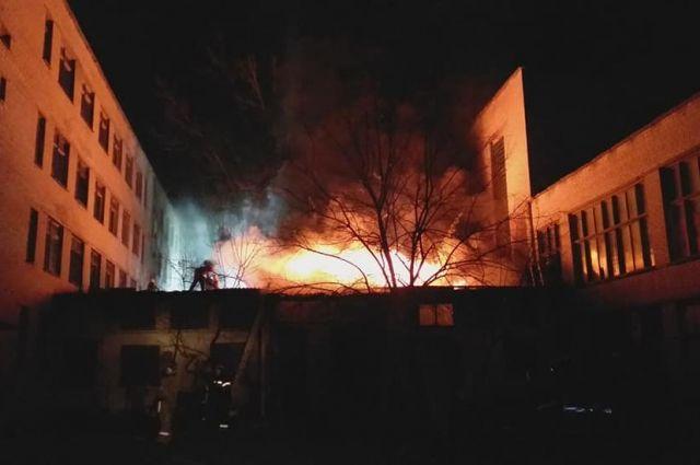 В Харькове произошел пожар в корпусе Центра профтехобразования: детали