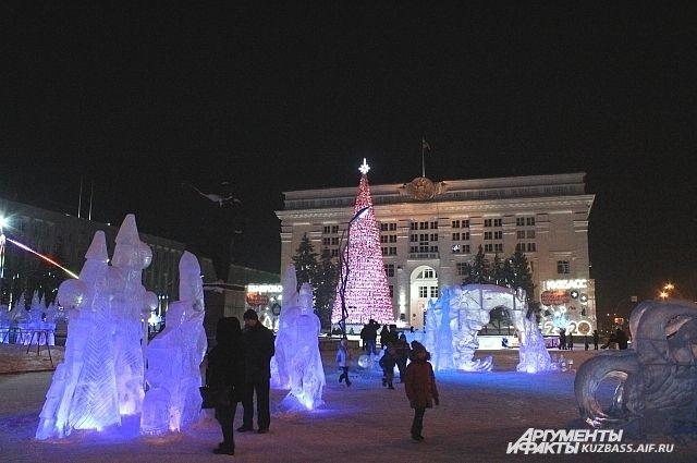В последние дни года в Кемеровской области стояли морозы.