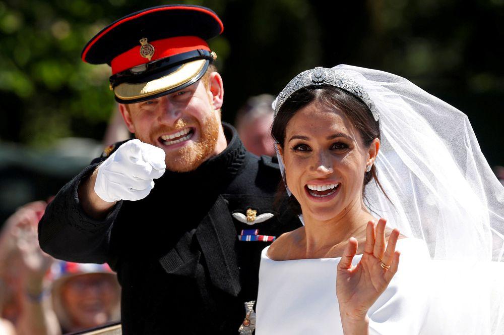 Свадьба британского принца Гарри и Меган Маркл в Виндзорском замке, 19 мая 2018 года.