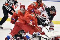 Сборная России на молодежном чемпионате мира в матче против Канады.
