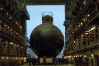 Спуск на воду подводной лодки «Волхов».