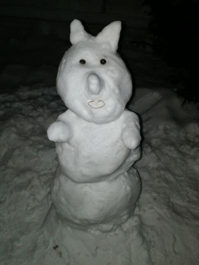 Необычный представитель семейства снеговиков в Нефтяниках.
