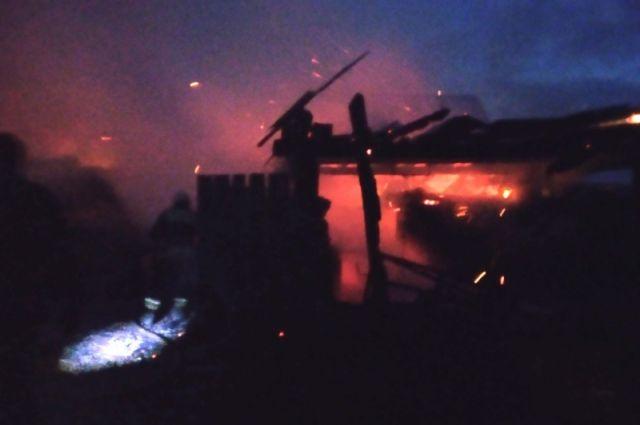 Пожар в деревне Ящерино