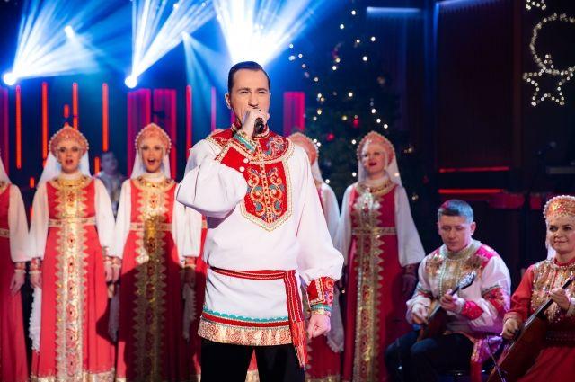 Валерий Подворный на съёмках шоу Ивана Урганта.