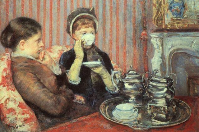 Мэри Кэссет. Фрагмент картины «Чай».