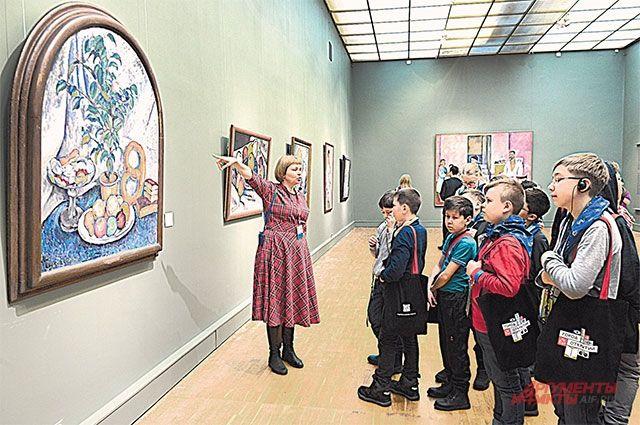 Дети в Третьяковской галерее..