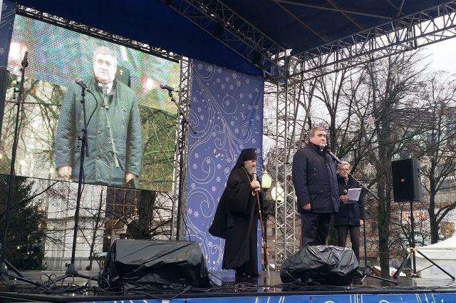 7 января на центральной площади Калининграда прошли народные гулянья