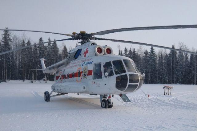 Мужчину доставили из Чердынского района в Пермь.