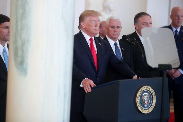 Пресс-конференция Дональда Трампа по иранскому вопросу. 8 января 2020 г.