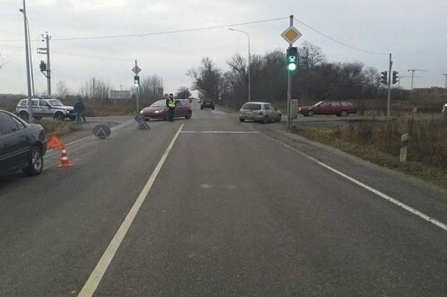 На Южном обходе Калининграда в ДТП пострадал пожилой велосипедист