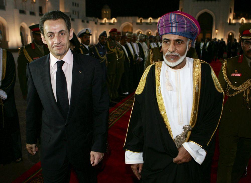 10 февраля 2009 года, президент Франции Николя Саркози и султан Омана Кабус бен Саид.