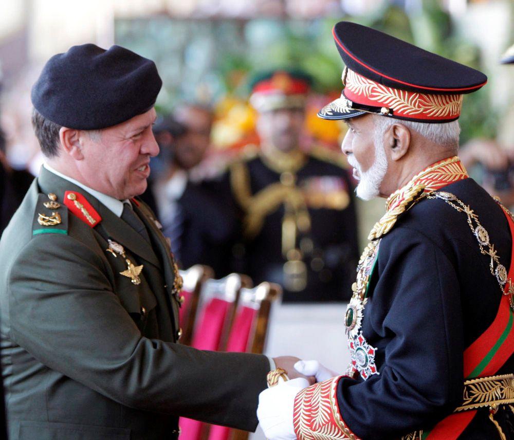 29 ноября 2010 года, король Иордании Абдалла II и султан Омана Кабус бен Саид.