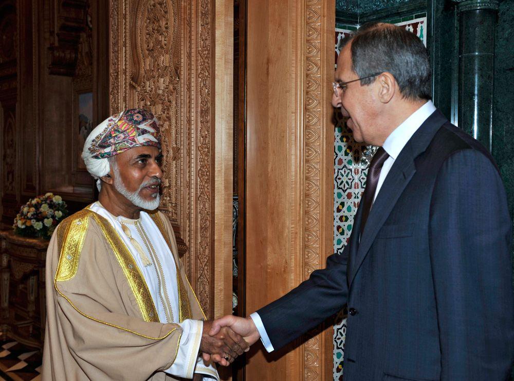 18 февраля 2009 года, министр иностранных дел РФ Сергей Лавров и султан Омана Кабус бен Саид.