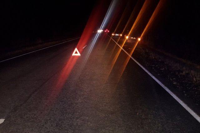 На тюменской трассе водитель Renault Duster врезался в столб