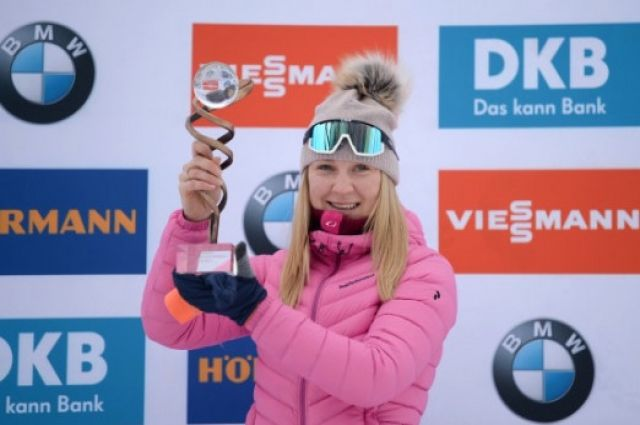 Евгения Павлова провела две гонки по биатлону блестяще.