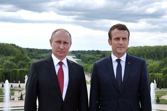 Путин и Макрон обсудили Украину в телефонном разговоре