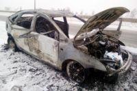В Тюмени СКР проводит проверку по факту гибели мужчины в сгоревшем авто