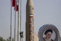 Иранская ракета в музее Исламской Революции и Священной обороны в Тегеране.