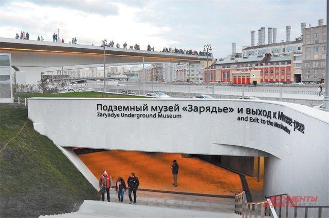 В выставочном пространстве нового Подземного музея произведения искусства соседствуют с мультимедийными комплексами.
