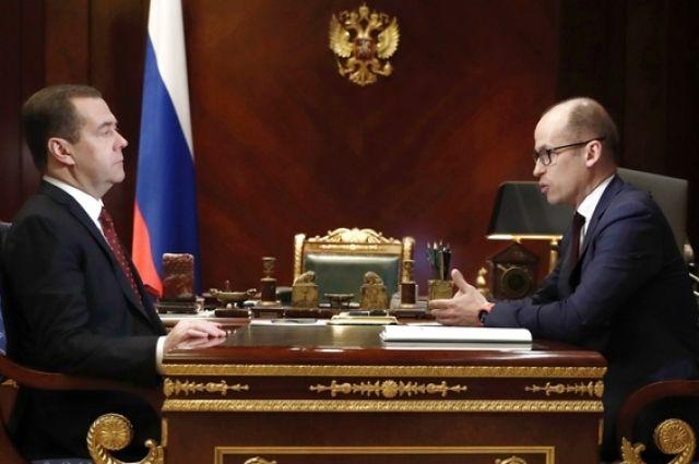 Бречалов пообещал Дмитрию Медведеву открыть еще 2 тыс. мест в яслях