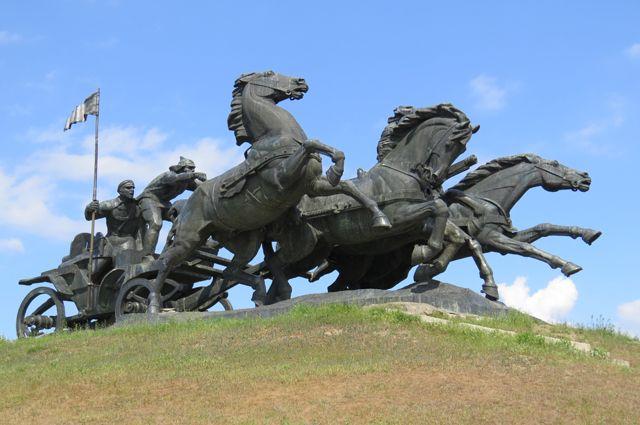 Памятник «Легендарная тачанка».