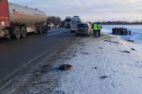 В ДТП на трассе Тюмень – Ханты-Мансийск пострадали семь человек