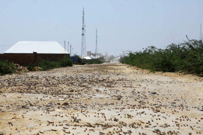 Дороги в городе Дусамареб в Сомали.